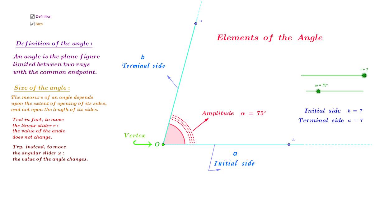 The Parts of the Angle Premi Invio per avviare l'attività