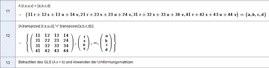 A x = b