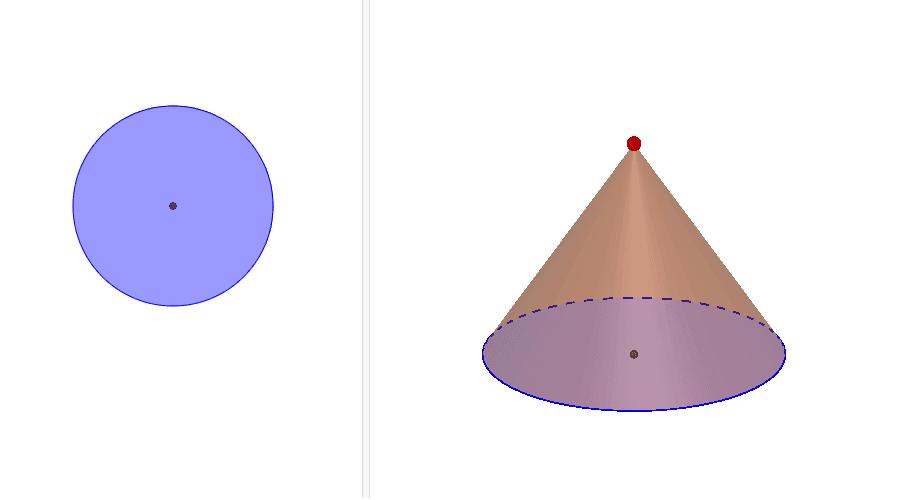 圓錐體 按 Enter 鍵開始活動