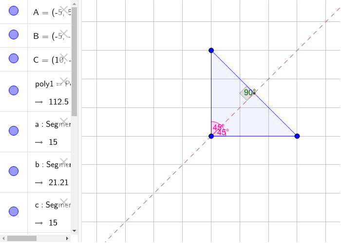 Play around with the sides of the triangle to see if the perpendicular bisector of a triangle will find the angle bisector. Press Enter to start activity