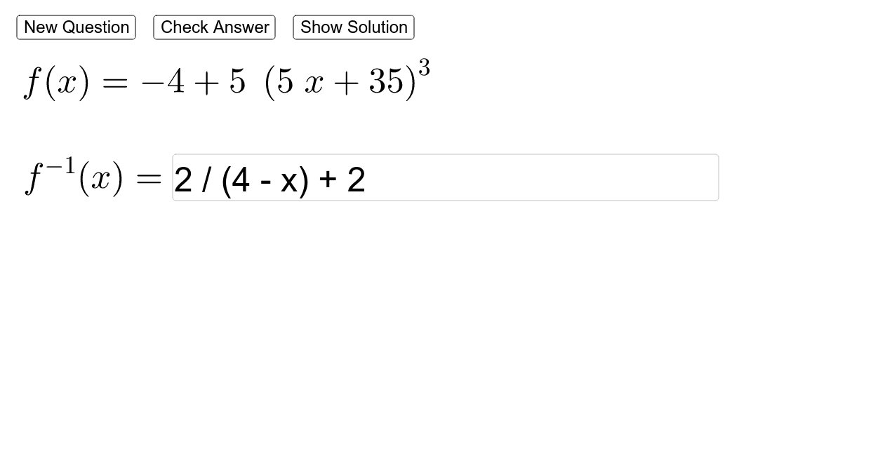 Finding Inverse Functions Press Enter to start activity