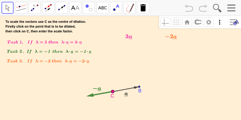 Multiplying by a scalar 2 Press Enter to start activity
