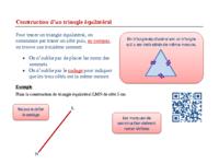 Construction d'un triangle équilatéral