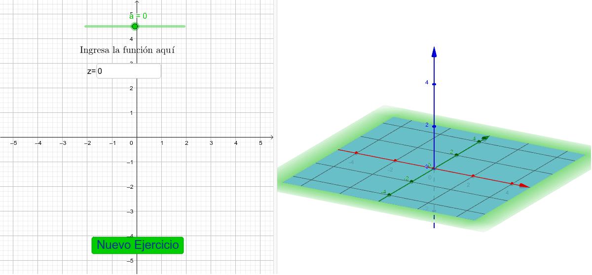 Ingresa la función y mueve el deslizador para encontrar la curva de nivel de la función dada Presiona Intro para comenzar la actividad