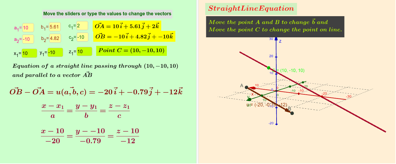 Analyzing a Straight line Press Enter to start activity