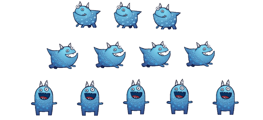 Snargg NIM:  Players will alternate turns and can take as many Snarggs as they like from any one row during a turn.  The player that takes the last Snargg or Snarggs wins! Press Enter to start activity