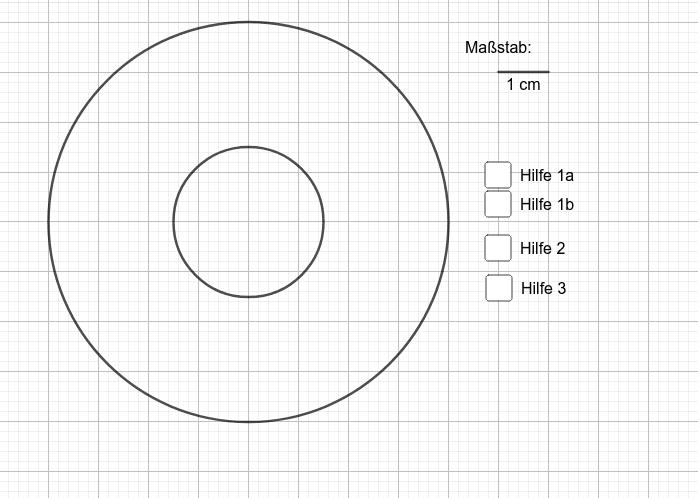 Berechne den Flächeninhalt des Kreisrings. Drücke die Eingabetaste um die Aktivität zu starten