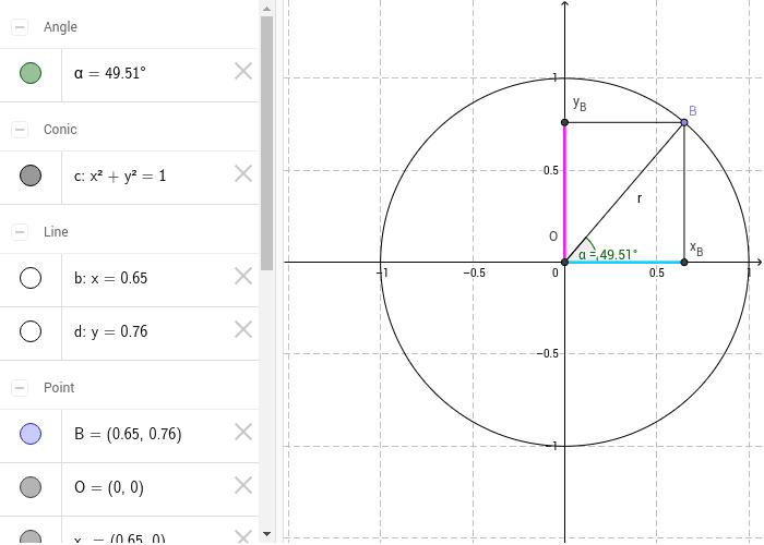 Trascina il punto B per variare l'angolo Premi Invio per avviare l'attività