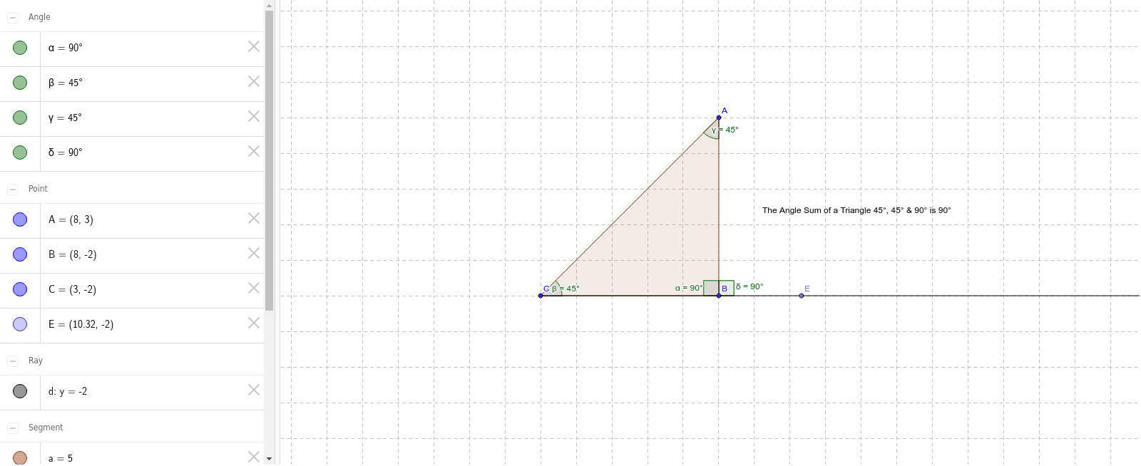 Angle sums of a traingle Press Enter to start activity