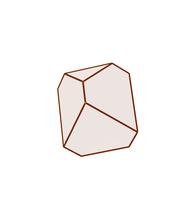 This is a trial version of Durer's solid, the rhombohedron. It is based on the rhombus of 72 degrees. Unfortunately, this is not a real construction, but partly an adjustable fake only. Paina Enter aloittaaksesi
