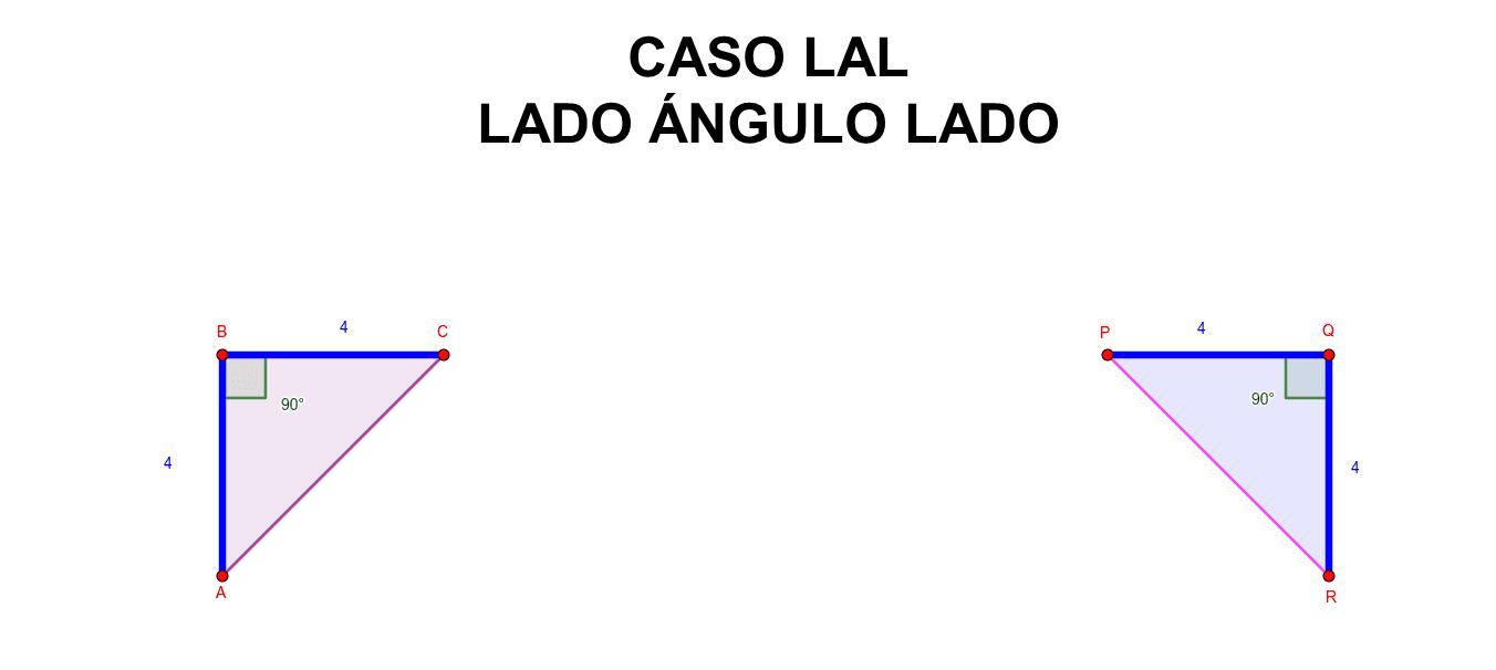 Instrucciones: Mueve uno de los vértices del triángulo ABC y observa que al hacerlo el triángulo PQR también cambia simultáneamente. Presiona Intro para comenzar la actividad