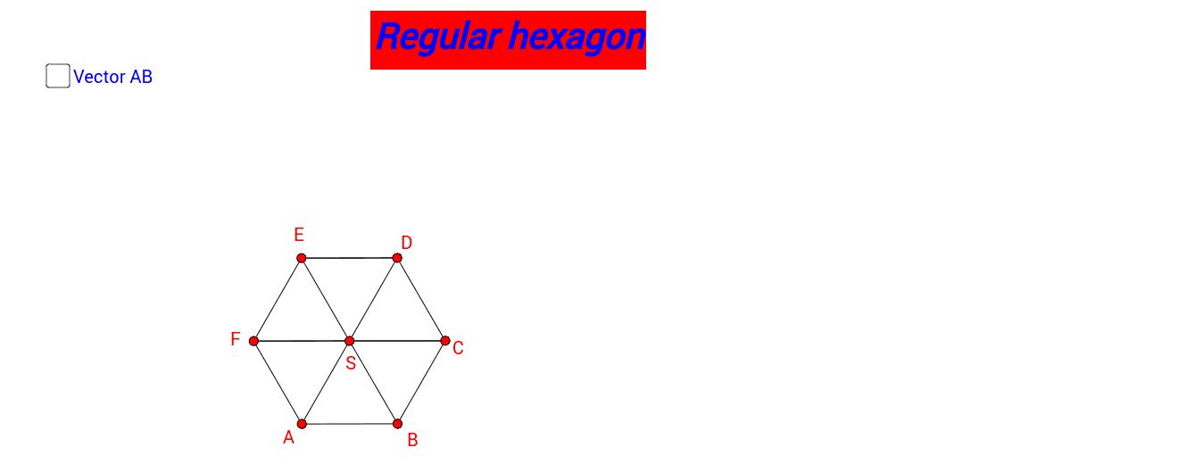 Regular hexagon Pritisnite Enter za pokretanje.