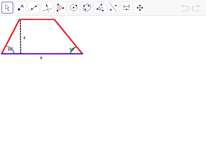 Konstruere følgende trapez Tryk Enter for at starte aktiviteten