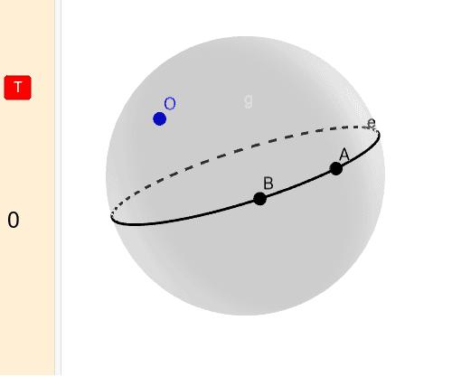 A gömbi geometriában: Press Enter to start activity