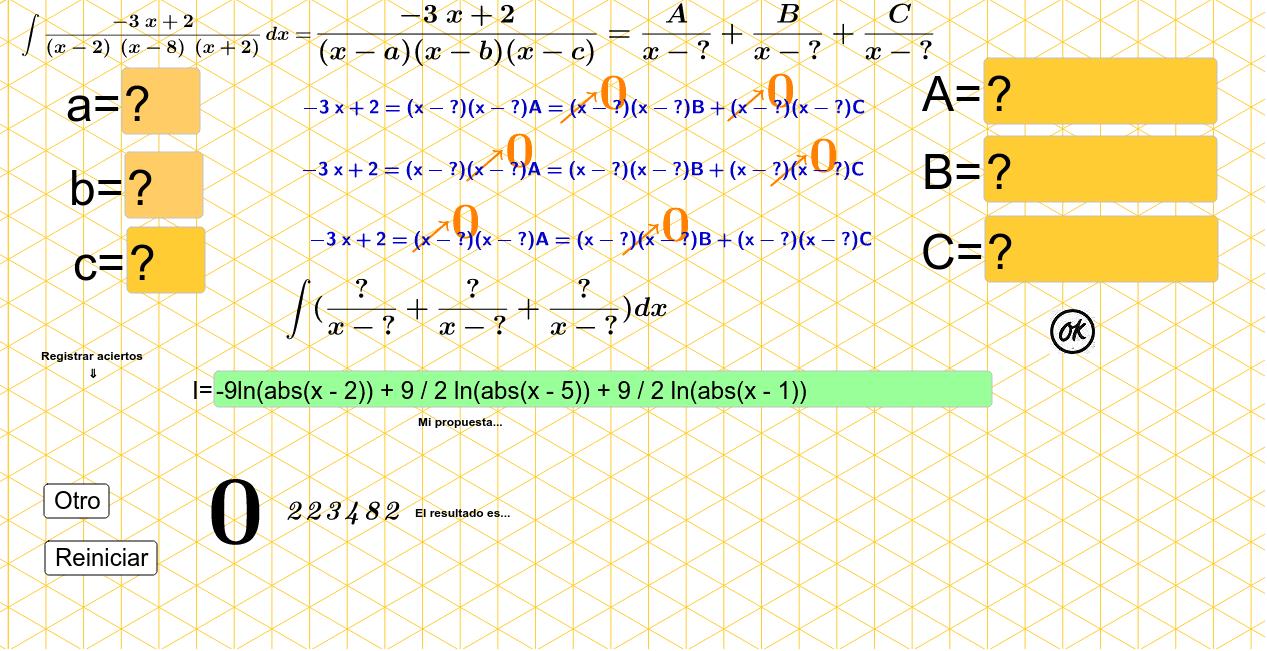 Factores lineales no repetidos Presiona Intro para comenzar la actividad