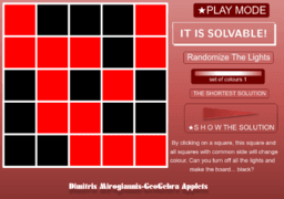 Lights Out (Game with Solution)