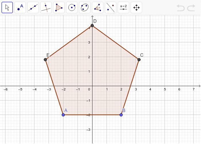 5. Odredi sve osi simetrije peterokuta. Koliko ih ima? Pritisnite Enter kako bi pokrenuli aktivnost