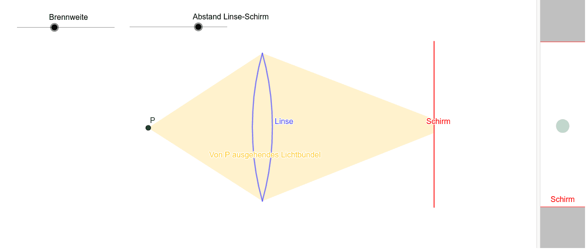 Grundlage: Das Bild bei einer Sammellinse Drücke die Eingabetaste um die Aktivität zu starten