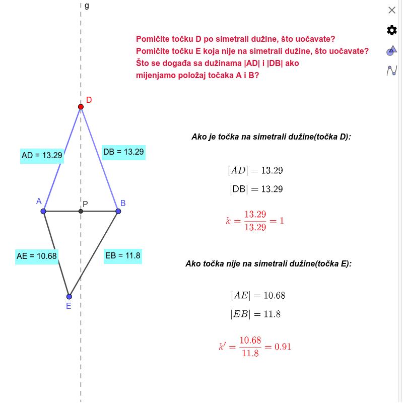 Simetrala dužine Pritisnite Enter za pokretanje.