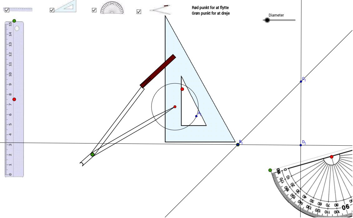 Geometri: Værktøj Tryk Enter for at starte aktiviteten