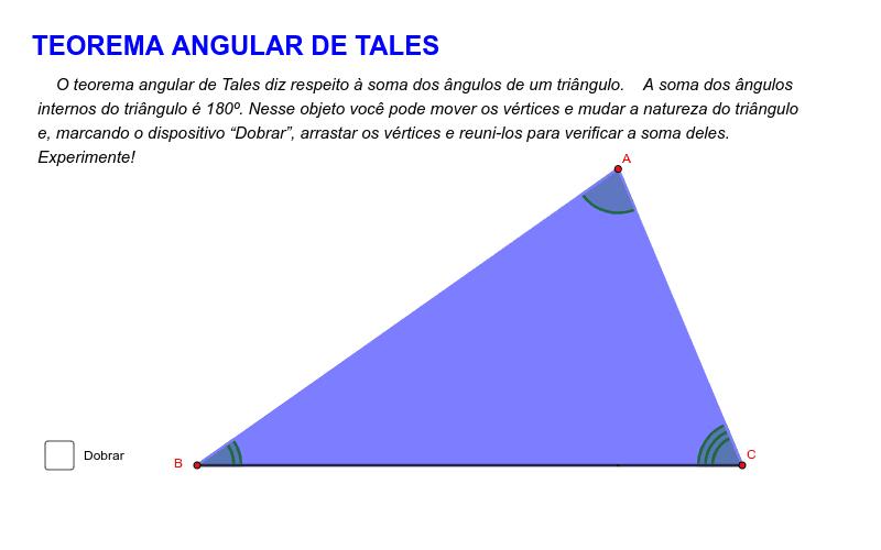 Teorema angular de Tales Press Enter to start activity
