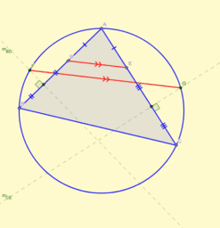 IMO 2018 - 1: Dos paralelas en un círculo