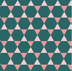 7 - Veja um exemplo de um mosaico formado por mais de um polígono regular.