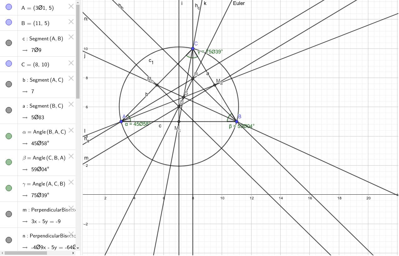Wichtige Punkte im Dreieck Drücke die Eingabetaste um die Aktivität zu starten