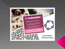 Concurso FotoGebra. Edición 2016
