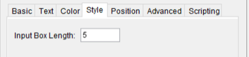 Right Click on Input Box and go to object properties       Click on Style Tab and set the length 5