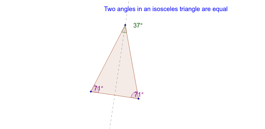Angles in an Isosceles triangle Press Enter to start activity