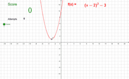 Locating the Vertex of a Parabola Practice
