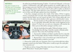 Picking Pilots
