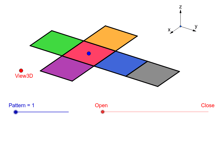 Investigate the different possible nets of a cube Press Enter to start activity