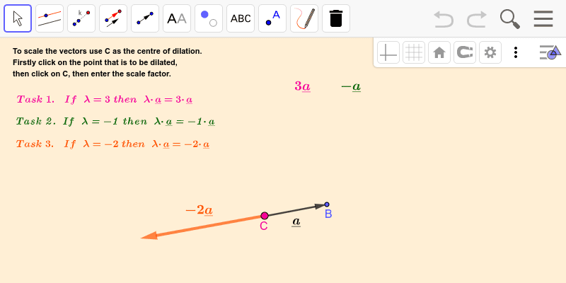 Multiplying by a scalar 3 Press Enter to start activity