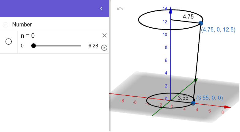 Here, a cleaned-up version of the GeoGebra resource shown in video above.  Press Enter to start activity