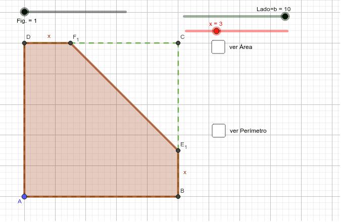 Calcula el área y el perímetro de la zona sombreada. Presiona Intro para comenzar la actividad
