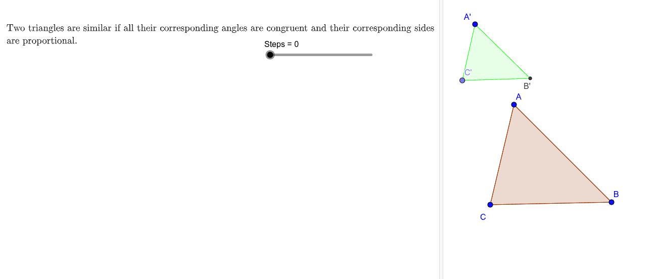 3rd Similarity Case: Side-Side-Side (SSS)  Press Enter to start activity