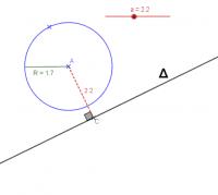 position Cercle-Droite