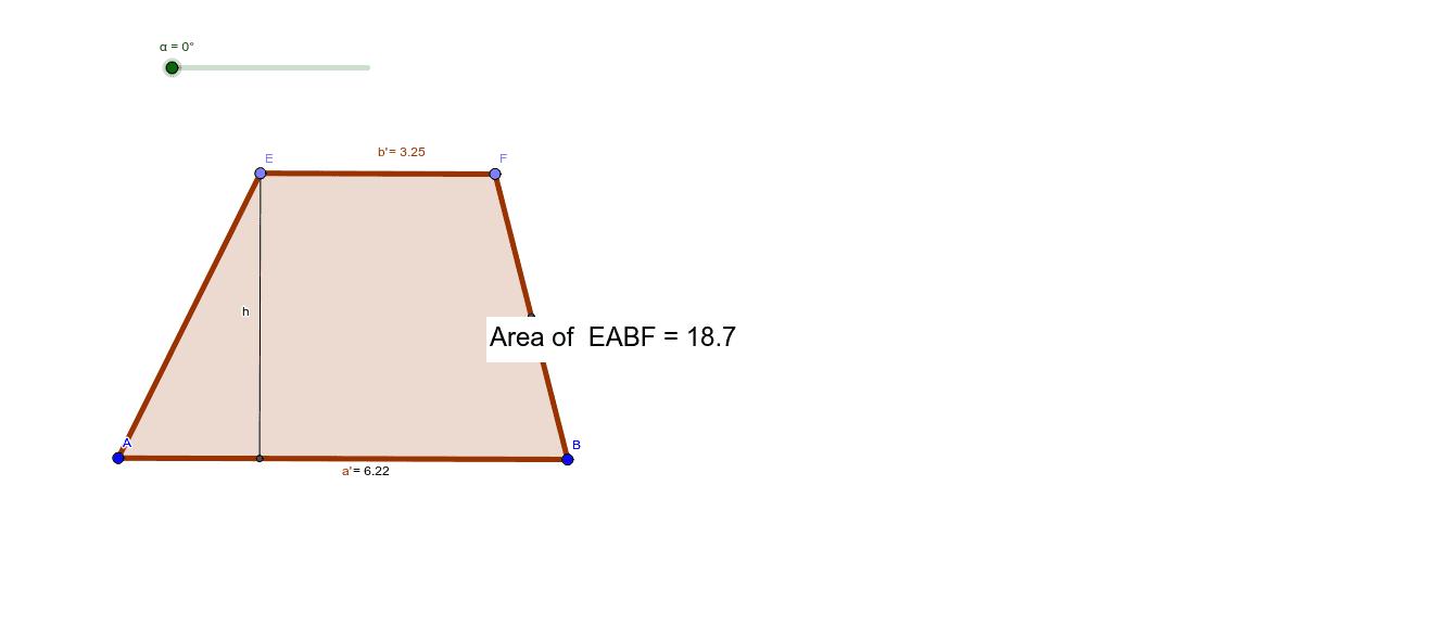 Trapezium to parallelogram Press Enter to start activity
