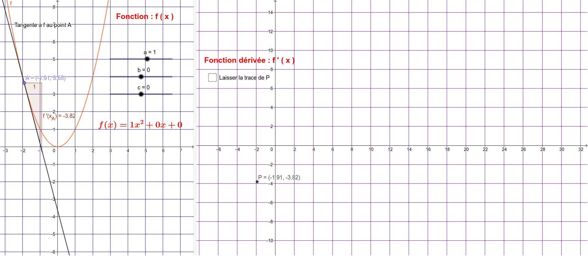 """Fonctions dérivées ( du second degré ) Tapez """"Entrée"""" pour démarrer l'activité"""