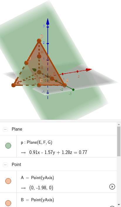 3.5 Qual é a seção determinada em um tetraedro regular ABCD por um plano paralelo às arestas AB e CD e passando pelo ponto médio da aresta AC? Press Enter to start activity