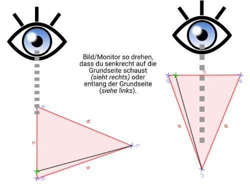 WICHTIG Tipp zum richtigen Anschauen des Dreiecks